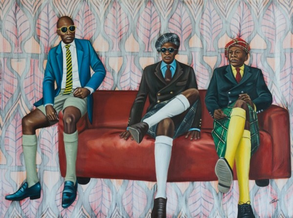 17. Zemba Luzamba , Bana Ya Kitendi (Sons of Cloth), 2016. Oil On Canvas, 90 X 120cm
