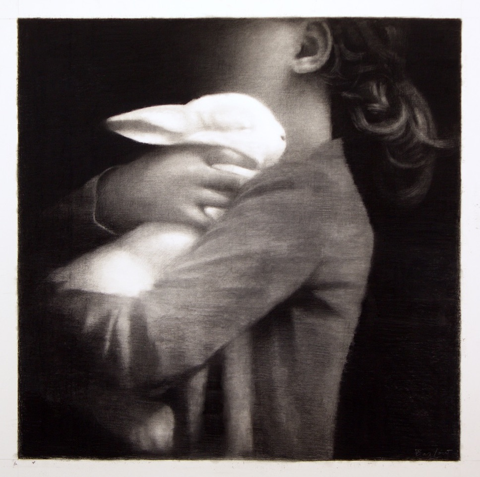 Hold Onto Your Dreams, Charcoal on Paper, 80x 80cm (1) copy
