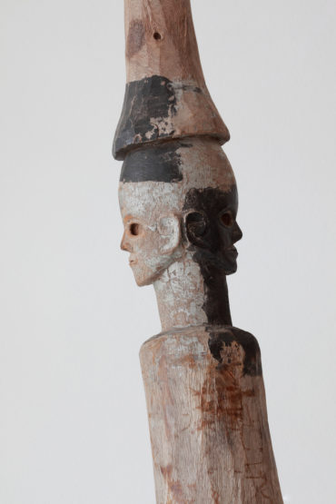 Tiv Ihambe 'Post' Figure with Janus Faces